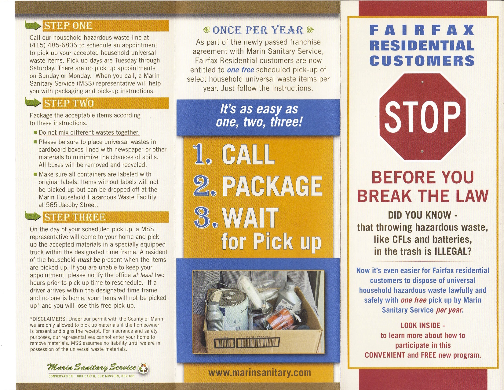 Fairfax Hazardous Waste Pickup